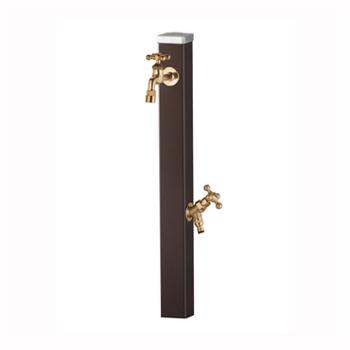 立水栓 スプレスタンド チョコブラウン (蛇口2個セット)