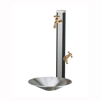 立水栓セット スプレスタンド ウッドブラック(ポット+蛇口2個付属)