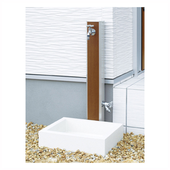 NIKKO 立水栓 フォギータイプA 補助蛇口仕様+シンプルパンセット