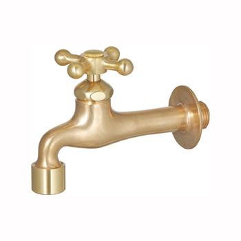 立水栓用蛇口 プレーンフォーセットクロス2(ゴールド)